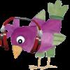 madár fejhallgatóval